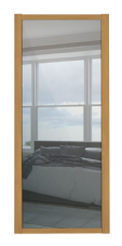 Shaker Sliding Wardrobe Door- OAK FRAME- MIRROR SINGLE PANEL